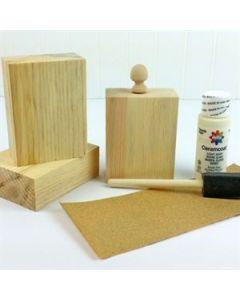 Wood Block Kit - save 50% - $8.48, normally $16.95