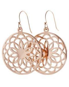 Rose Gold Flower Screen Earrings